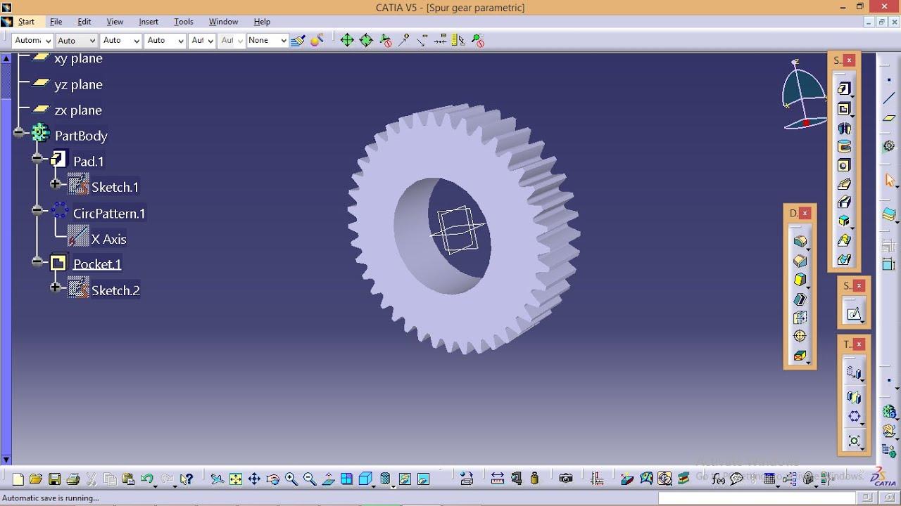 Catia tutorials how to make spur gear profile in catia using.