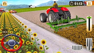 Real Tractor Driving Simulator 2021 - Grand Harvester Farming Game -  Android Gameplay