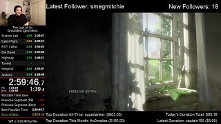 I did it.  The Last of Us Speedrun World Record! (2:59:46) on Grounded mode (Glitchless)