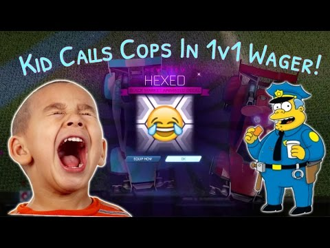 """Kid Screams And Calls Cops In 1v1 Wager Match!! """"MOM GET THE PHONE!"""""""