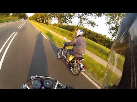 Dr.Bob riding his LC Yamaha FS1 over 120kmh made by Gino's Tuning
