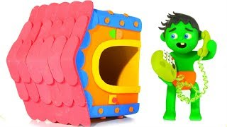 WHAT HAPPENED TO THE PLAYHOUSE? ❤ SUPERHERO PLAY DOH CARTOONS FOR KIDS