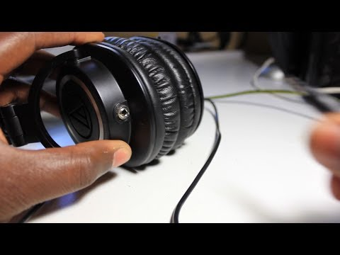 ATH M50 Removable Cable Mod Tutorial