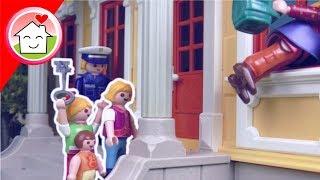 Playmobil Film Familie Hauser - Einbrecher in der gelben Villa - Spielzeug Video für Kinder