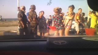 Тамань на пляже угроза террористического акта!!въезд закрыт