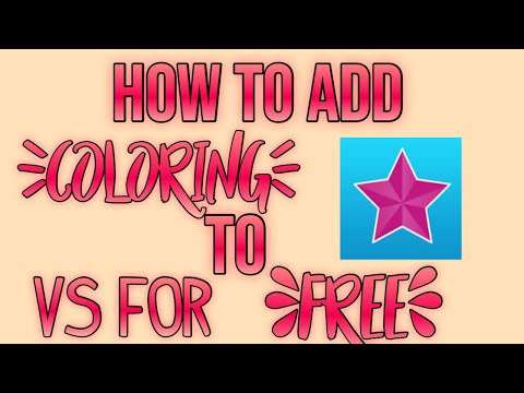 HOW TO ADD COLORING TO EDITS ON VIDEOSTAR FOR FREE!!