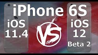Speed Test : iPhone 6S - iOS 12 Beta 2 vs iOS 11.4 (iOS 12 Public Beta 1 Build 16A5308e)