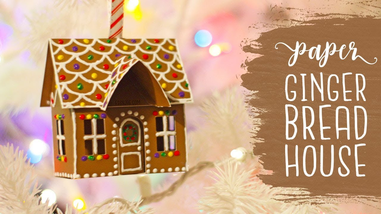 Paper Gingerbread House Christmas Tree Ornament Tutorial Craftmas