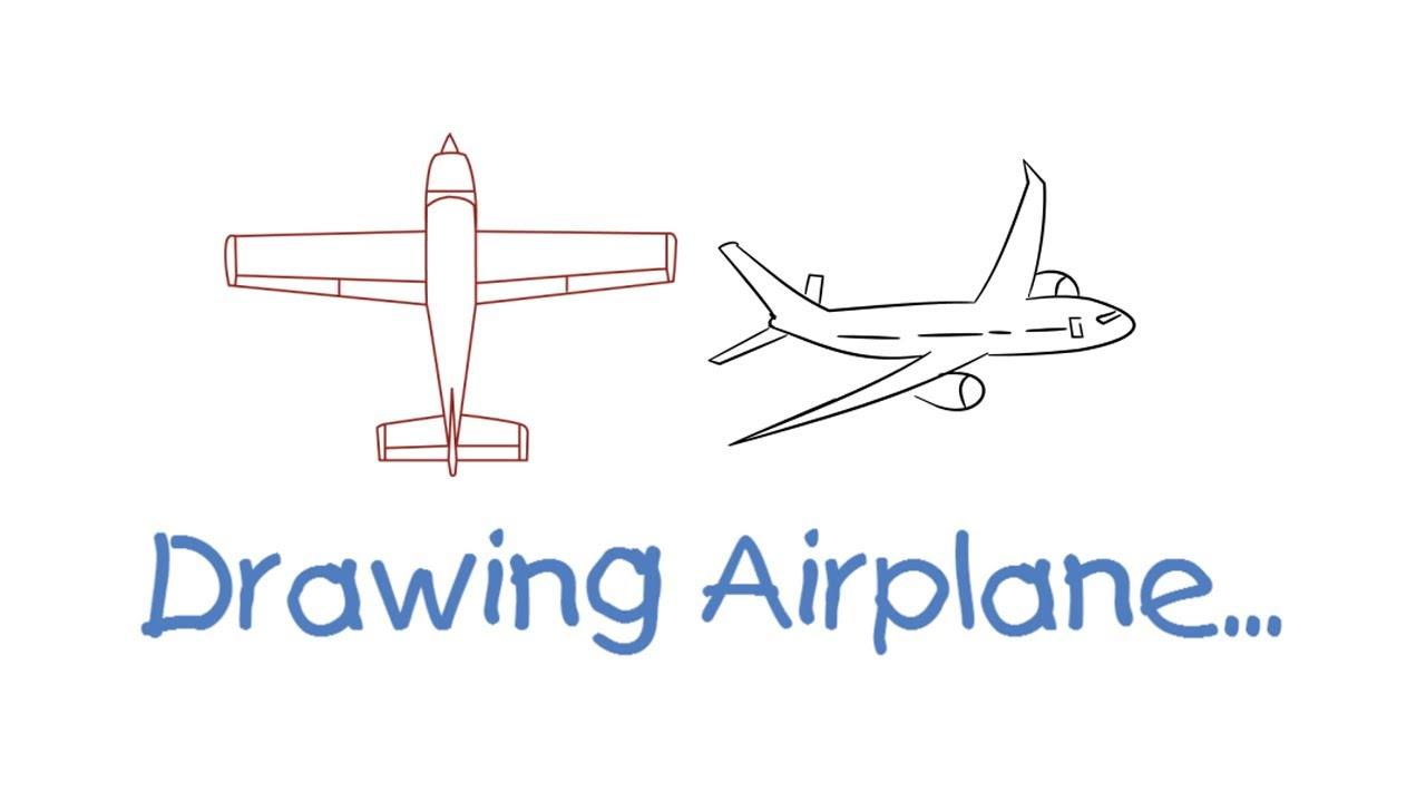 how to draw simple airplane for kids easy step by step one minute drawing