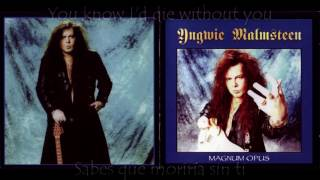I´d Die Without You - Yngwie Malmsteen subtitulado ingles/español