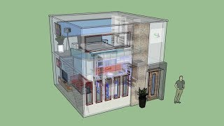 Casa 5 X 5 M / House 5x5 M (con Entrepiso / With Mezzanine)