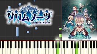 忘れじの言の葉/ゲーム『グリムノーツ』より(ピアノソロ中上級)【楽譜あり】