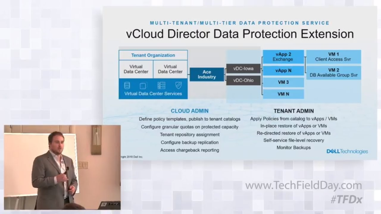 Dell EMC Data Protection for vCloud Director – A Seamless