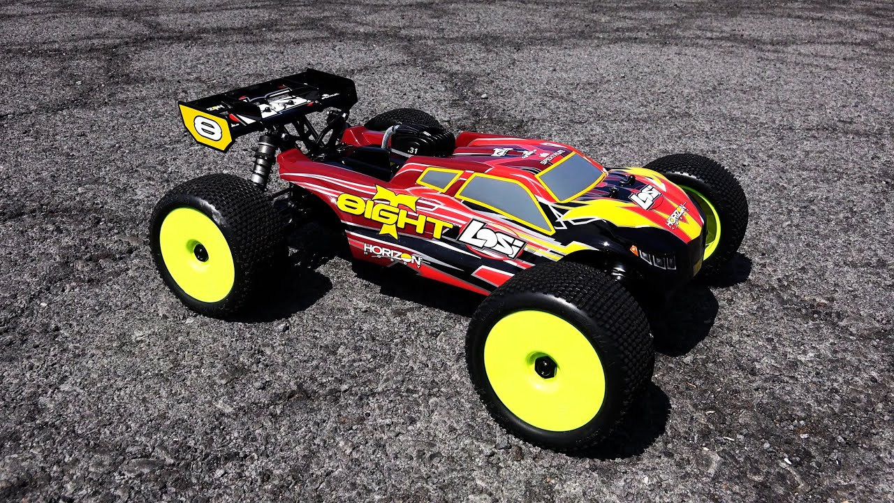 LOSI 1 8 8IGHT T 4WD Gas Truggy RTR with AVC™ Technology Engine Breakin