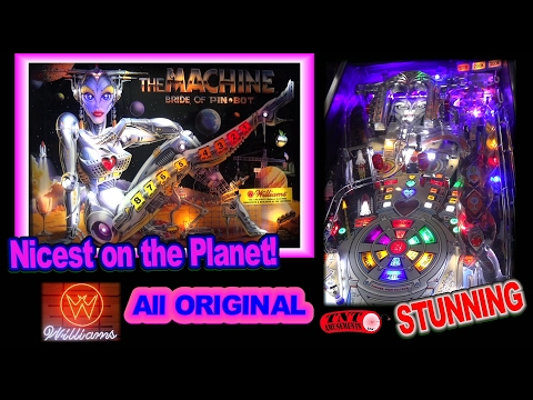 1226 Williams THE MACHINE-BRIDE OF PINBOT-nicest on Planet Earth TNT Amusements
