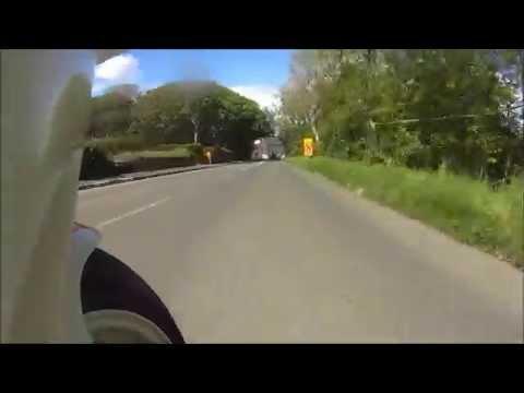 Pre TT Classic Race Onboard TZ250 Yamaha. Isle of Man road races.