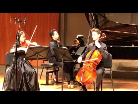 Final 2017 JCM competition - Mendelssohn Piano Trio in D minor, No.1, Op. 49, Junior Chamber Music: