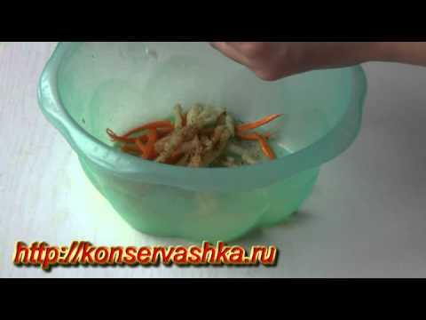 Кабачки покорейски быстрого приготовления