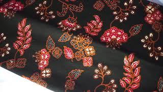 Batik Banyumas Kombinasi Tulis Motif Kembang Sawahan