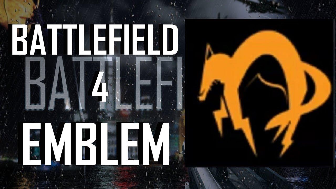 Battlefield 4 BF4 Metal Gear Solid Foxhound Logo Emblem Tutorial
