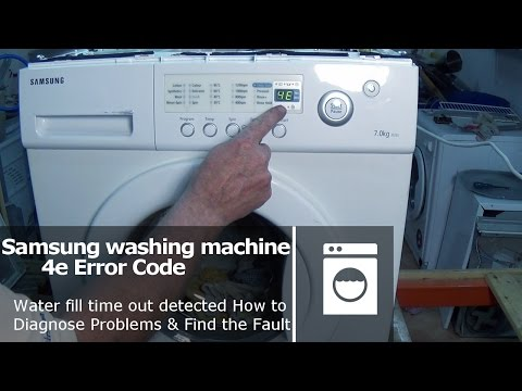 Samsung washing machine error code 4E and E1 Fault Not