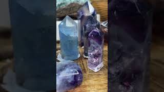 Fluorite - the Study stone. And Colour changing fluorite.