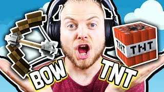 WINNING BEDWARS ONLY USING THESE ITEMS!! - Minecraft Mini Game thumbnail