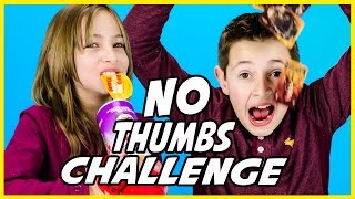 NO THUMBS CHALLENGE! POPCORN, LEGOS, ORBEEZ, PRINGLES, PEEPS, BLIND BAGS