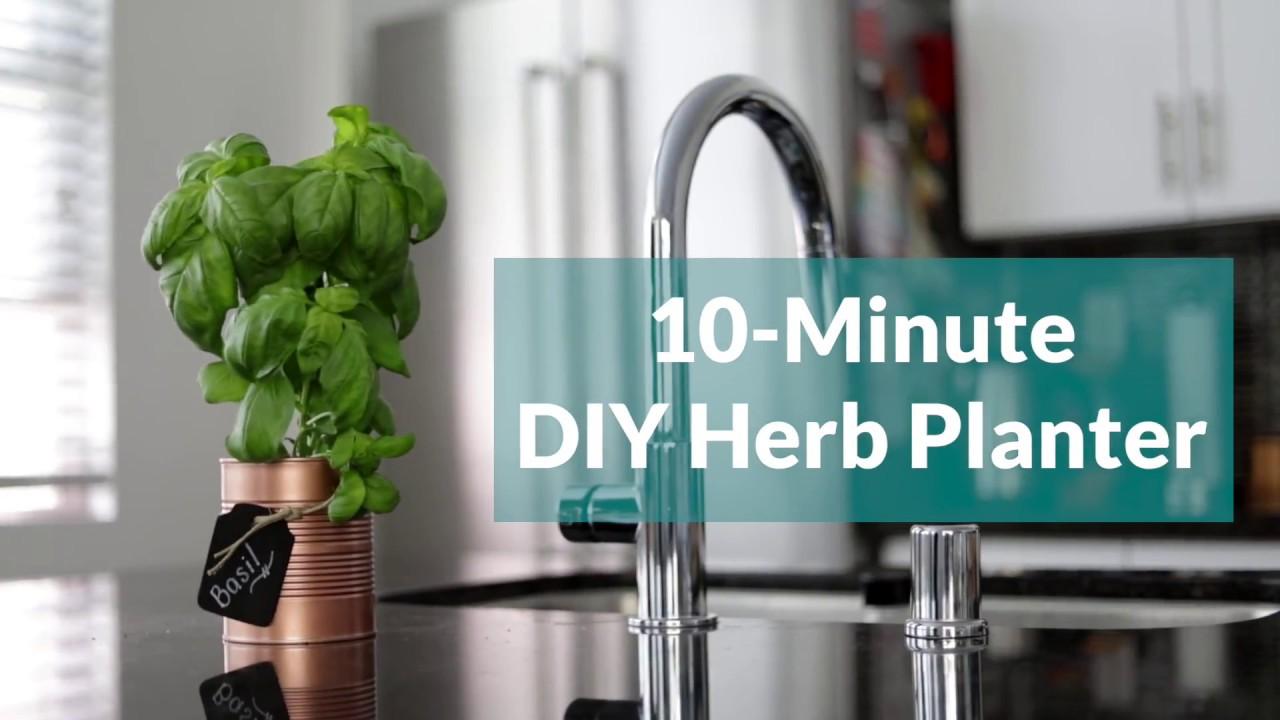Ten-Minute Herb Planter - YouTube