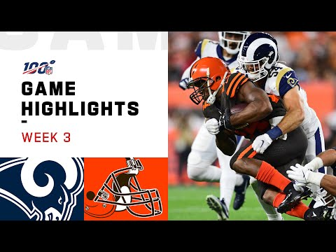 Rams vs. Browns Week 3 Highlights | NFL 2019