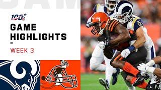 rams vs browns week 3 highlights nfl 2019