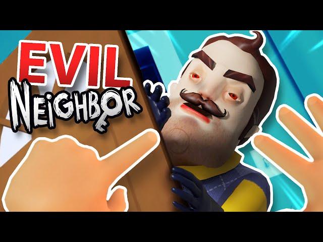 EVIL NEIGHBOR broke into BABY'S HOUSE!?!! (Baby Hands VR Hello Neighbor)