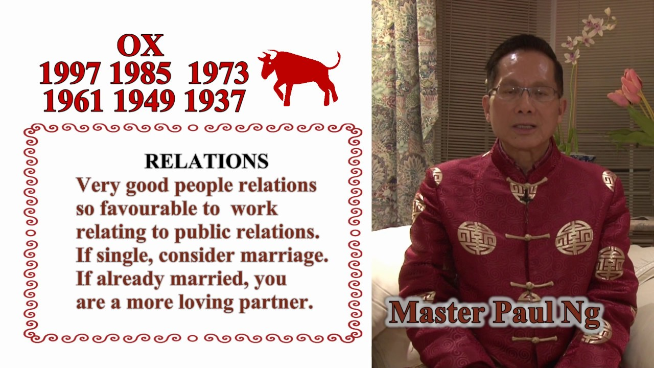 master paul ng 2017 chinese zodiac predictions ox youtube. Black Bedroom Furniture Sets. Home Design Ideas