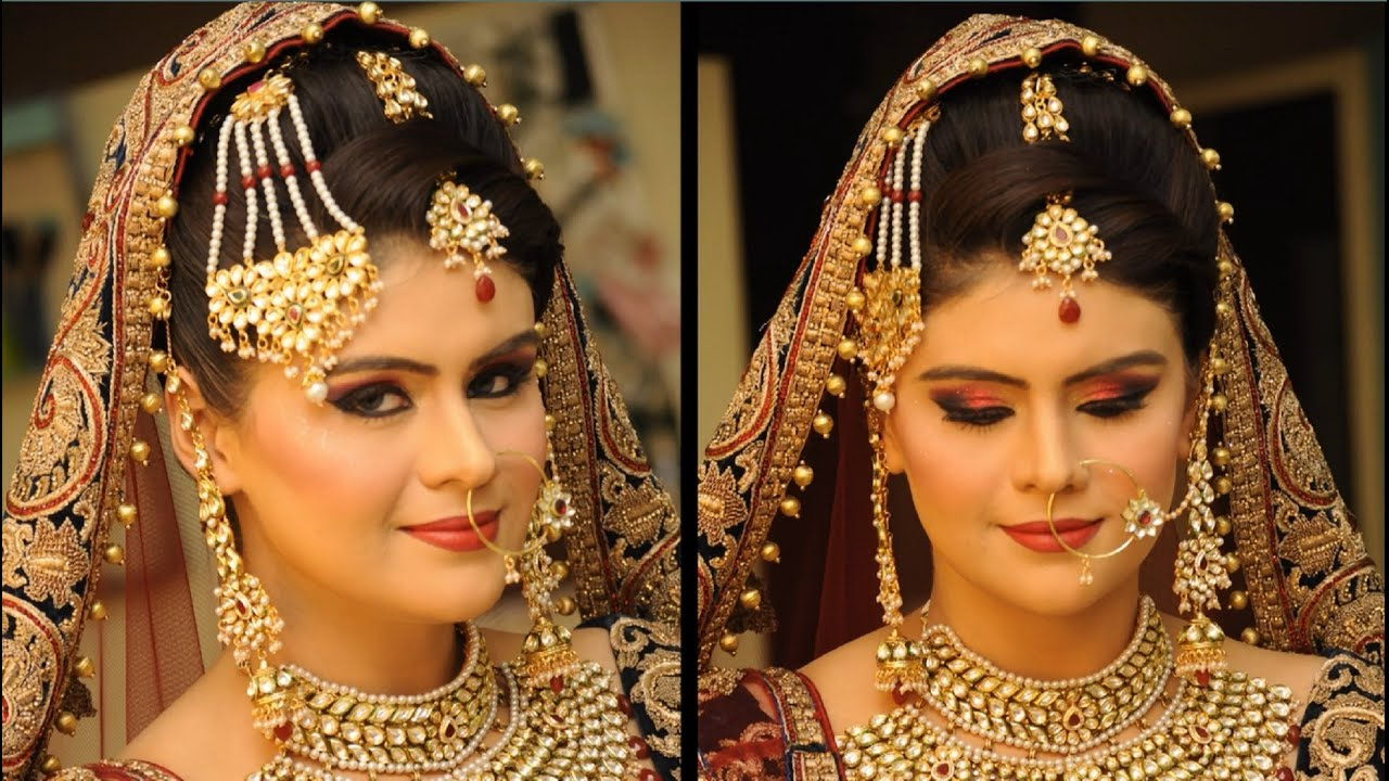 Traditional Wedding Dressup And Makeup : Wedding Makeup - Indian Traditional Royal Look - YouTube