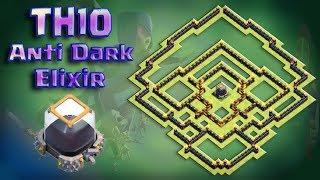 TH10 Anti Dark Elixir Base | Farming Base | Trophy Base | TH10 Base Design | Clan Builder