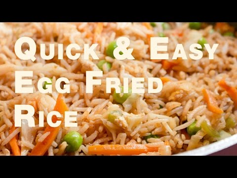 Quick & Easy Egg Fried Rice Recipe | How to make egg fried rice Indian Style