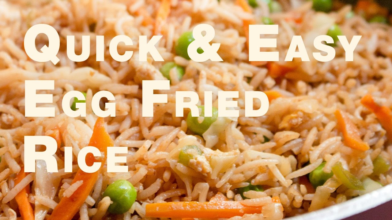 Quick & Easy Egg Fried Rice Recipe | How to make egg fried ...