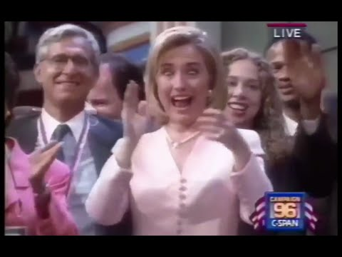 Hillary Clinton Macarena Dance From 1996 DNC