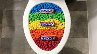 Will it Flush? - Rainbow M&M's and Snickers