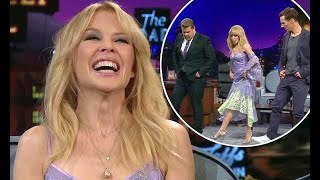 Kylie Minogue teaches James Corden andhow to line dance