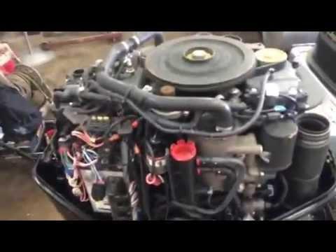 2012 200 HP Mercury Verado Turns Over No Start - YouTube