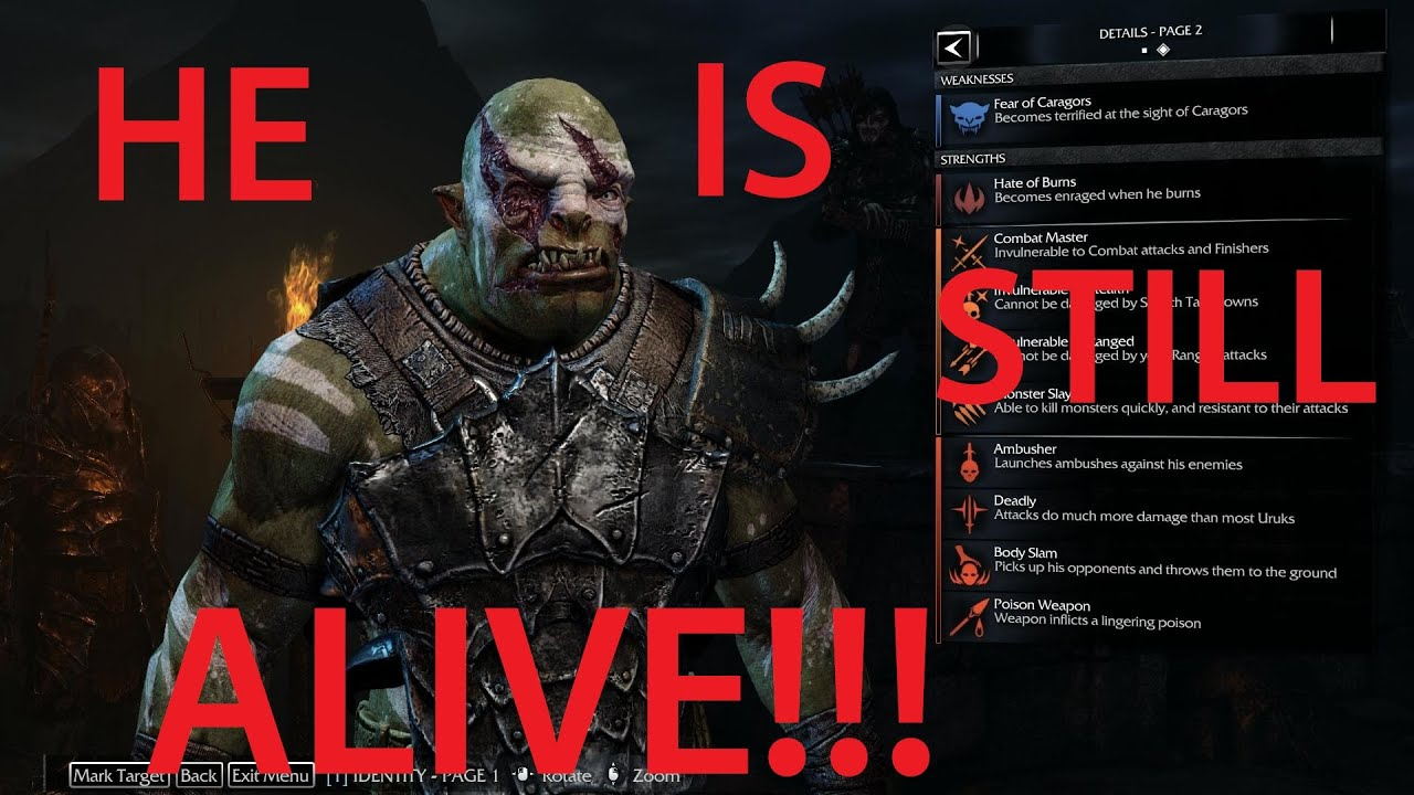 MY NEMESIS STILL LIVES!!! (Middle-Earth: Shadow Of Mordor The Bright Lord DLC) - YouTube