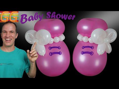 Ideas Para Baby Shower De Nina.Baby Shower Ideas Balloons Baby Shoes