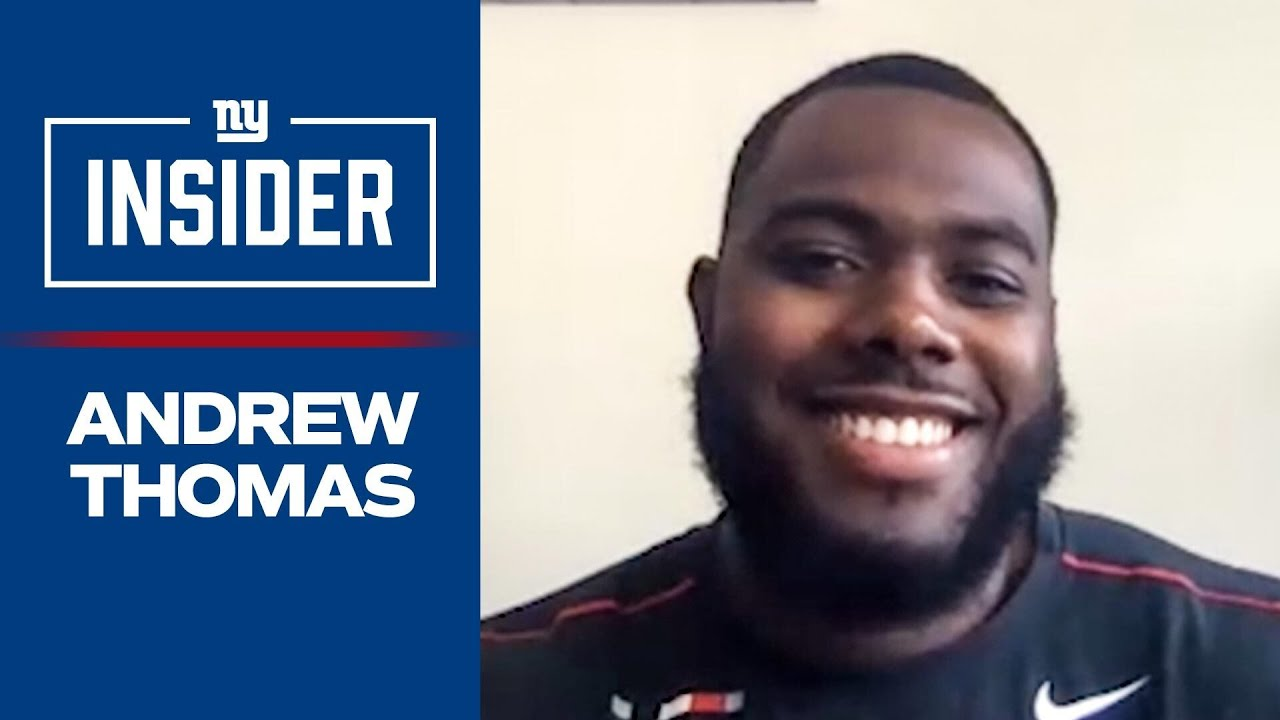 """Andrew Thomas: """"It's an honor to play for the New York Giants"""" 