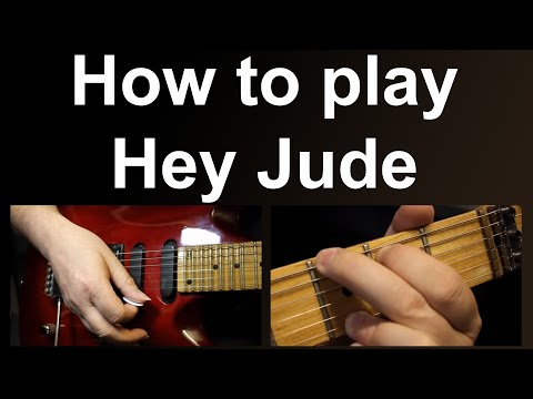 Learn to play Hey Jude on guitar using easy chords, as performed by the Beatles