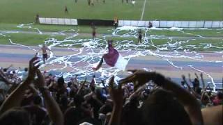 Carabobo FC -  Los jugadores agradeciendo a la Hinchada ( Los Granadictos )