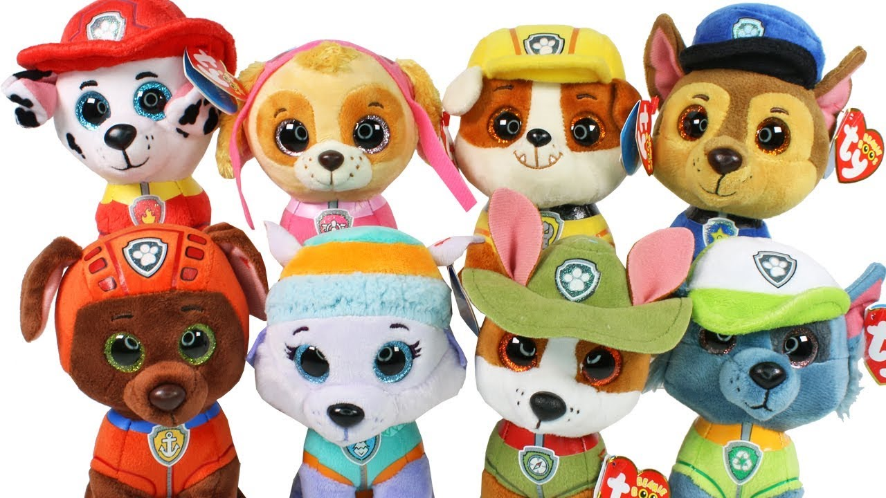 Nickelodeon Paw Patrol Beanie Boos Haul Unboxing Toy Review TY Beanie Boo  Plush 1fe6ab29432