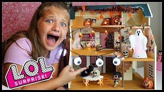 LOL Surprise Dolls Haunted House! LOL Dolls DIY Halloween FUN!