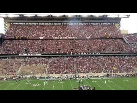 Texas A&M Entrance and Aggie War Hymn Mississippi State Game Kyle Field 2015