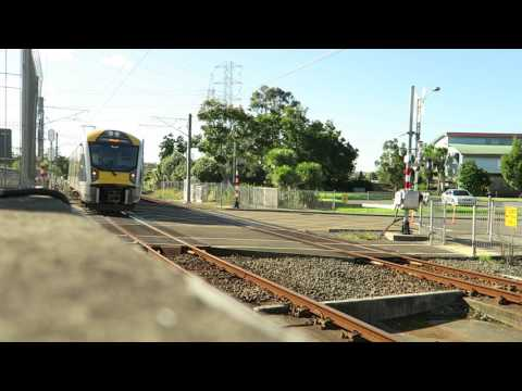 two Auckland electric units meet at Portage road New Lynn